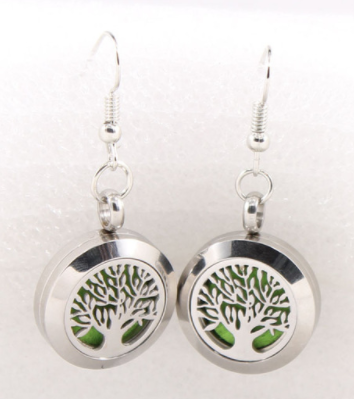Jewelry/Earrings ~ Aromatherapy Diffuser Earrings - Tree of Life