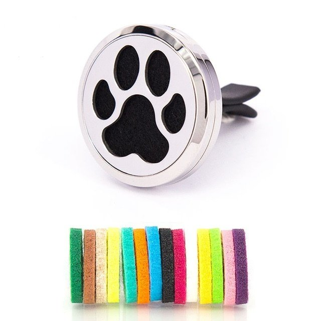 Jewelry ~ Aromatherapy Car Vent Diffuser - Paw Prints