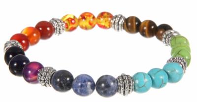 Jewelry/Bracelet ~ 7 Chakras Lava Stone Diffuser Bracelet