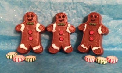 Soap ~ Oatmeal & Honey Gingerbread Man TRIO  ~ with Ginger & More Essential Oils   8 oz. Total Weight