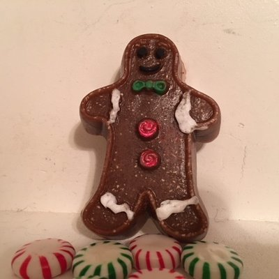Soap ~ Oatmeal & Honey Gingerbread Man Single Large  ~ with Ginger & More Essential Oils  3.2 oz