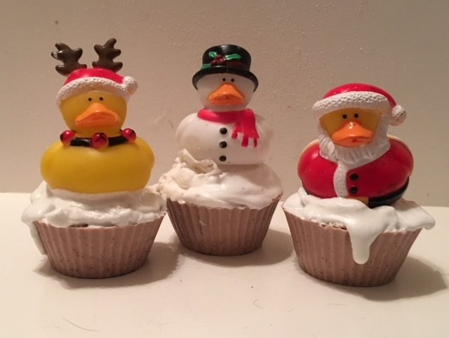 Soap ~ Cupcake Soap ~ with Winter Holiday Little Squirt  3.7 oz.