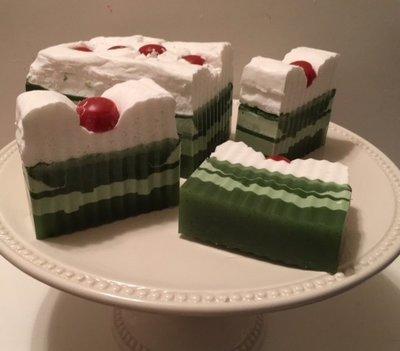 Soap ~ Key Lime Cake Soap Slice ~ w/Lime Essential Oil 5.5 oz. each