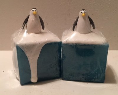 Soap ~ Penguin Playing on the Ice & Snow  ~ with Vanilla & Orange Essential Oils