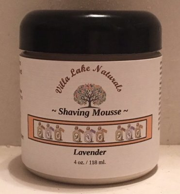Shaving Mousse ~ Lavender 4 oz
