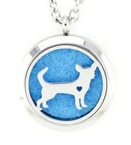 Jewelry/Pendant ~ Aromatherapy Pendant - Dog #2 with Chain