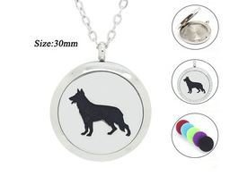 Jewelry/Pendant ~ Aromatherapy Pendant - Dog #3 with Chain