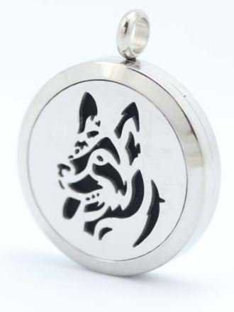 Jewelry/Pendant ~ Aromatherapy Pendant - Dog #4 with Chain
