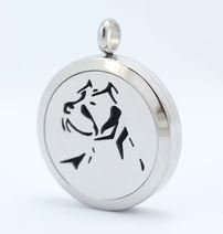 Jewelry/Pendant ~ Aromatherapy Pendant - Dog #5 with Chain