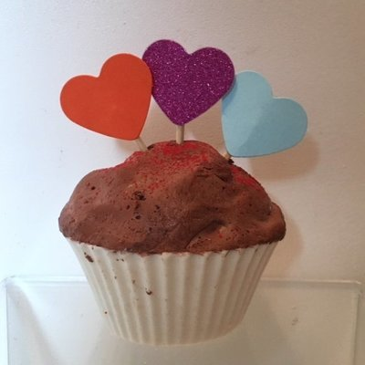 Soap ~ Valentine's Cupcake Soap - NO CALORIES! ~ White w/Chocolate Frosting  3.2 oz. each