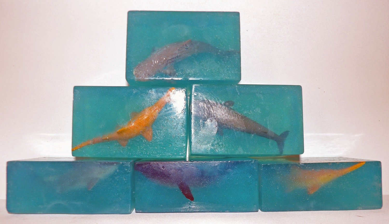 Soap - Embedded Marine Animal Soap ~ Olive Oil with Lavender Chamomile & Hint of Lime Essential Oils
