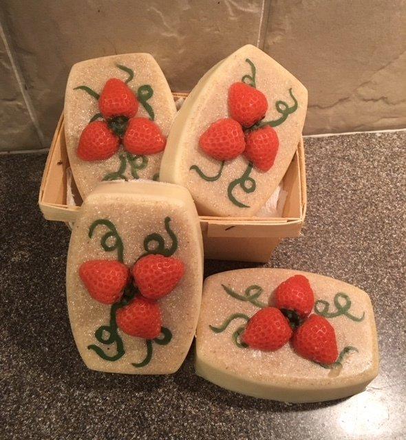 Soap ~ Strawberry Soap w/Shea Butter & Oats ~ 5.8 oz. - one bar