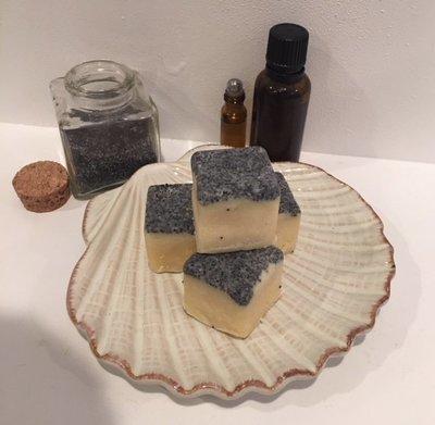 Bath Melt ~ Lemongrass w/Poppy Seeds ~ Four Melts - 4.3 oz. total weight