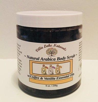 Bath - Scrub - Arabica Coffee Body Scrub - w/Coffee & Vanilla Essential Oils 8 oz.