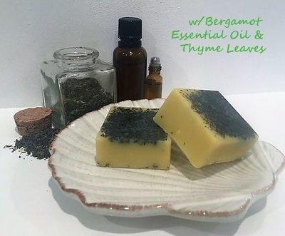 Bath Melt ~ Bergamot w/Thyme Leaves ~ Four Melts - 6.25 total oz.
