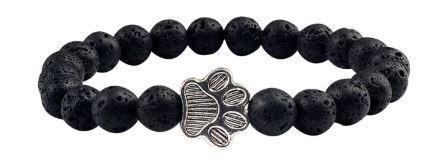 Jewelry/Bracelet ~ Lava Stone Diffuser Bracelet w/Paw Charm