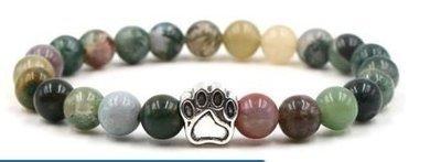 Jewelry/Bracelet ~ Stone Diffuser Bracelet w/Paw Charm