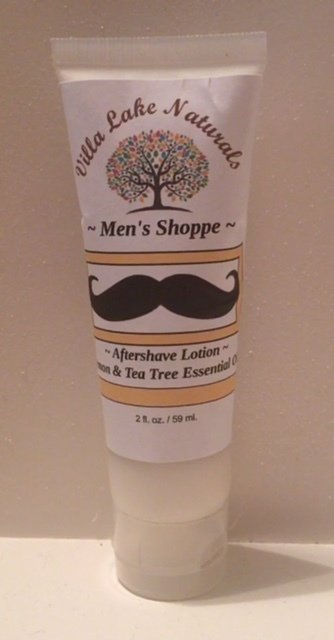 Men's Shoppe ~ Herbal Aloe After Shave Lotion ~ For All Skin Types
