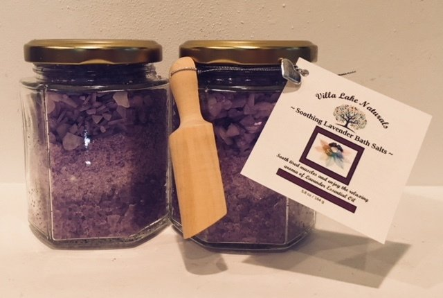 Bath ~ Sugar Scrub ~ Choose Essential Oil or Blend - Hexagonal Glass Jar 8 oz.