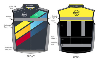 Audax Reflective Vest with Mesh Back