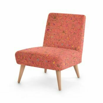 OCCASIONAL CHAIR - LIVING CORAL PRINT