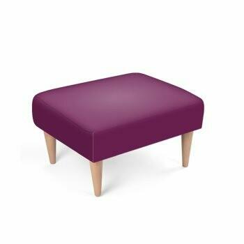 Footstool Dark Purple