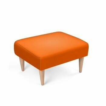 Footstool Orange