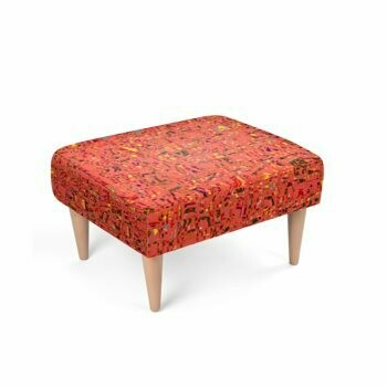 Footstool Living Coral Print Design