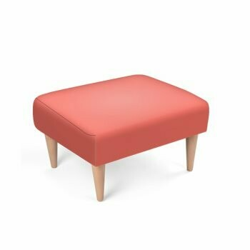 Footstool Living Coral