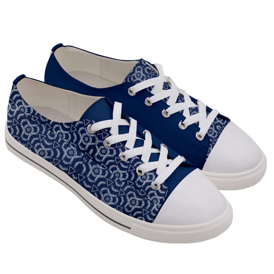 Women's Botswana African Print Low Top Sneakers