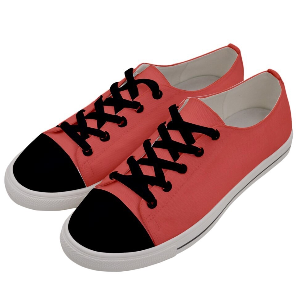 Women's Living Coral  Low Top Sneakers