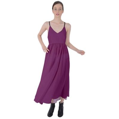 Tie Back Byzantine Long Dress