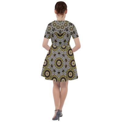 Multi Print Dress with Sailor Collar