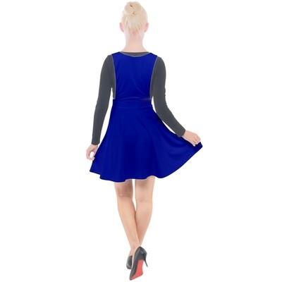 Reflex Blue Velour Pinafore Dress