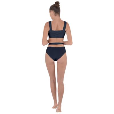 Black Bandaged Up Bikini Set
