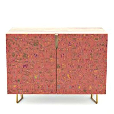 Credenza Living Coral Print