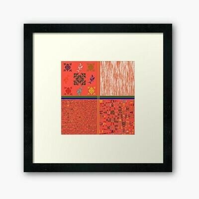 Multi Print Coral Wall Frame