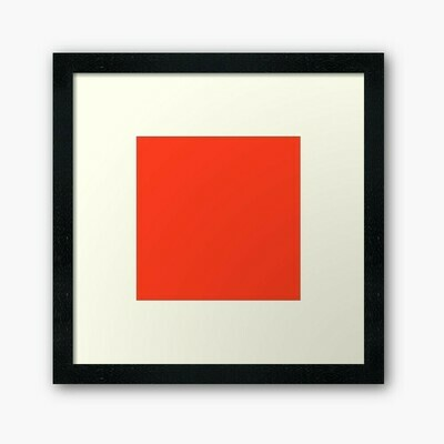 Bright Red Wall Frame