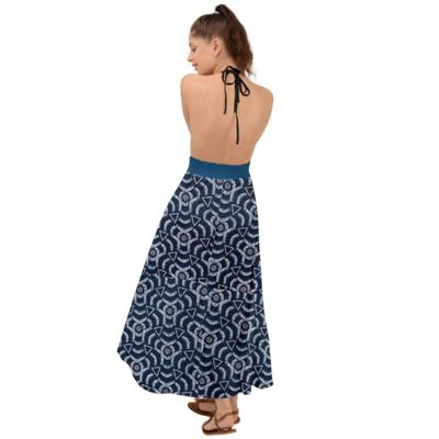 Halter Tie Backless African Print Dress