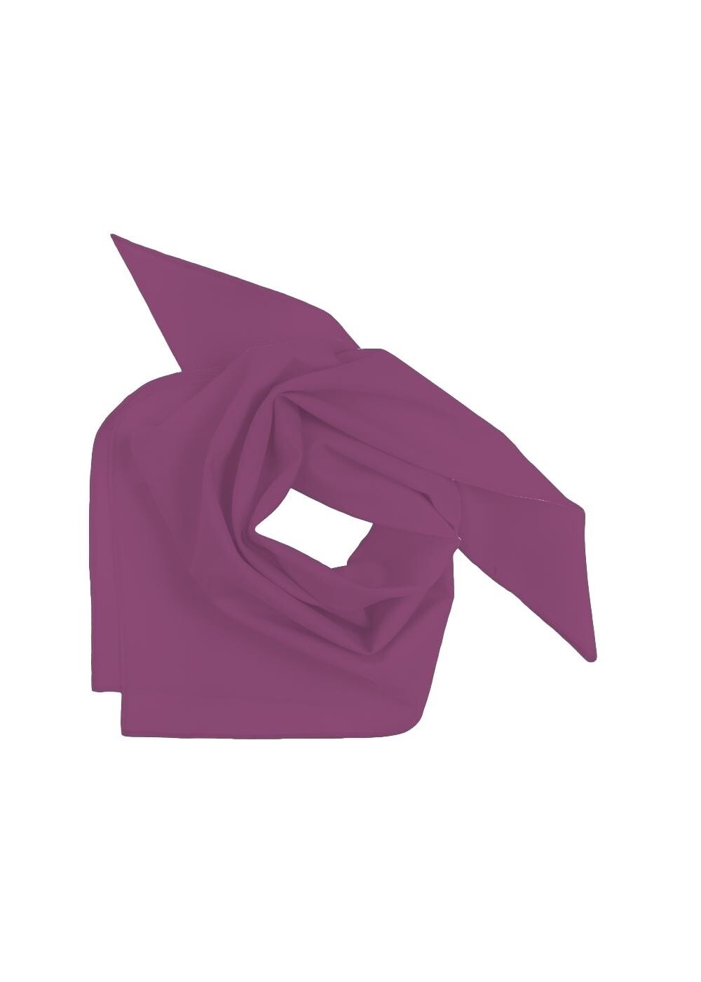 Mini Square Scarf Solid Dark Purple