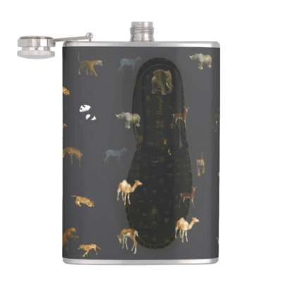 HIP FLASK ANIMAL PRINT