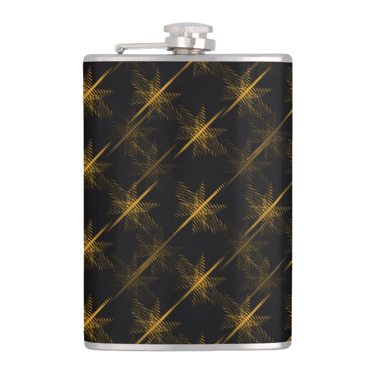 HIP FLASK GOLD STAIRS PRINT