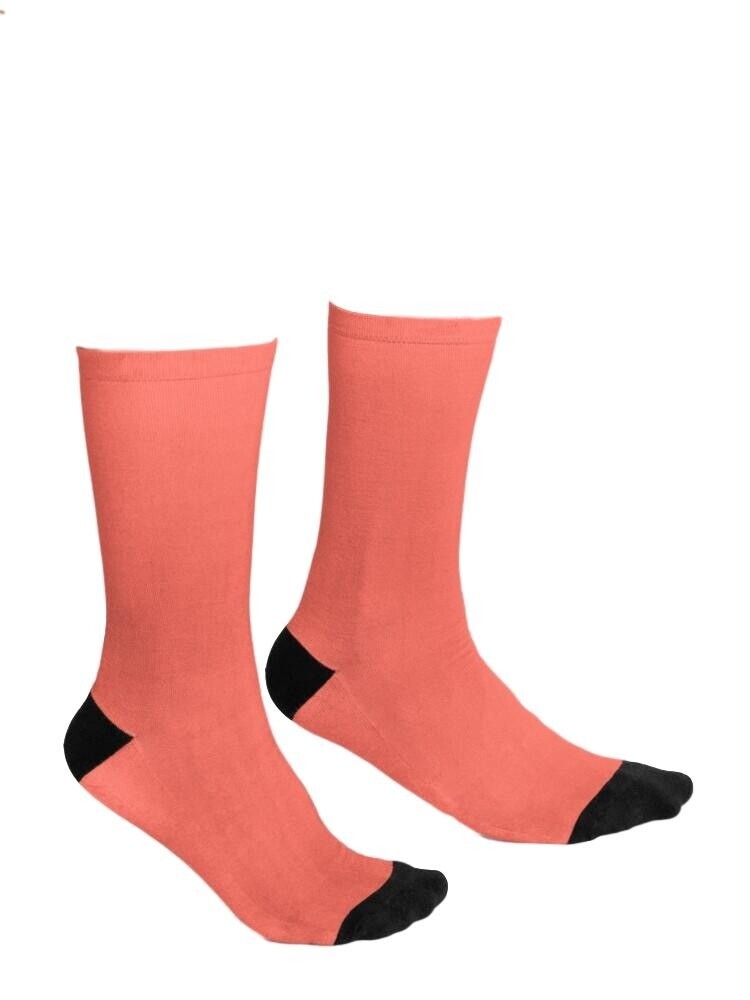 Living Coral  and Black Socks