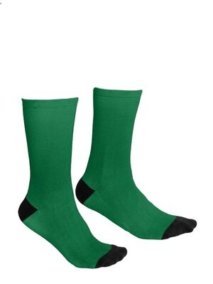 Forest Green and Black Socks