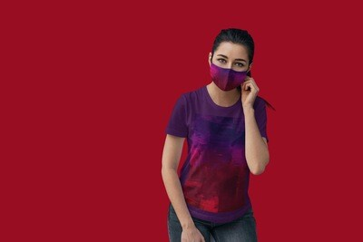 Violet Tie and Dye Face Mask