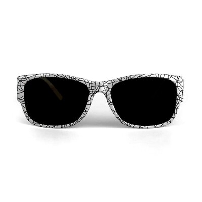 SUNGLASSES BLACK THREAD PRINT DESIGN