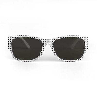 SUNGLASSES BLACK DIAMONDS PRINT DESIGN