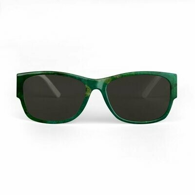 SUNGLASSES GREEN TIE AND DYE PRINT DESIGN