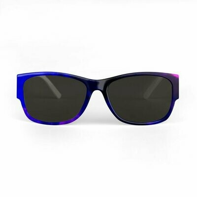 SUNGLASSES BLUE TIE AND DYE PRINT DESIGN
