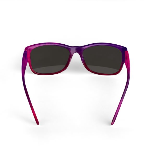 Sunglasses Violet and Red Watercolour Print Design